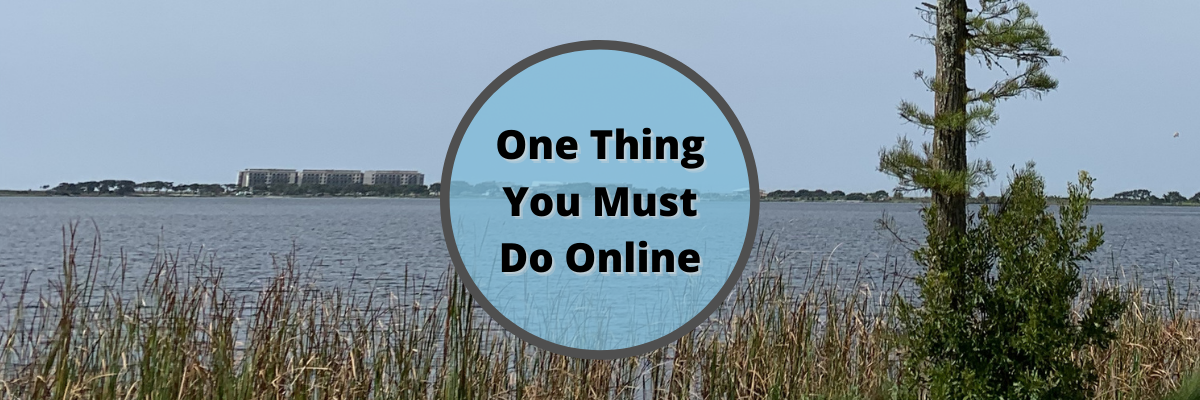 One thing you must do online