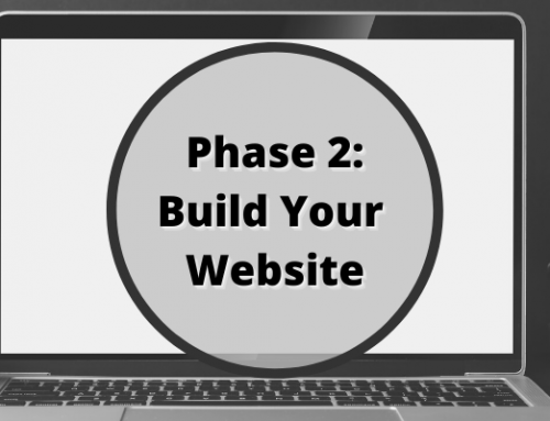 Phase 2 of the Healthy Online Marketing Path: Build your Website